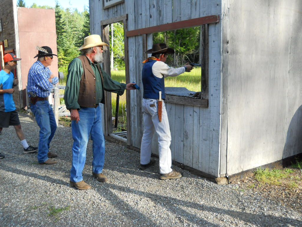 4-H shooter practices pistol shooting